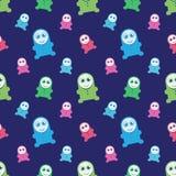 Seamless kids monsters illustration stock illustration