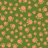 Seamless kids pattern bear paws. Illustration background vector. Can be used for wallpapers, curtain, plates, surface textures, wrapping Stock Photography