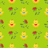 Seamless kids pattern  with chicken texture background Stock Images