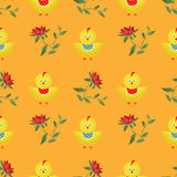 Seamless kids pattern with chicken texture background Stock Photography