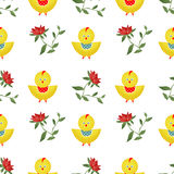 Seamless kids pattern with chicken texture background Royalty Free Stock Photo