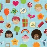 Seamless kids pattern Stock Photos