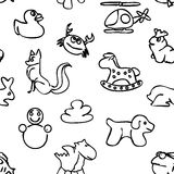 Seamless Kids Wall Art Doodles Pattern Royalty Free Stock Photos