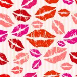 Seamless kiss background Stock Photos
