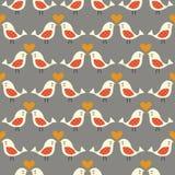 Seamless kissing birds background. Seamless kissing birds cartoon background Royalty Free Illustration