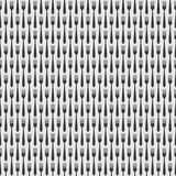 Seamless Kitchen Cutlery Fork Pattern Stock Photo
