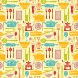 Seamless kitchen grunge retro background Stock Images