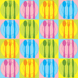 Seamless kitchen pattern Royalty Free Stock Image