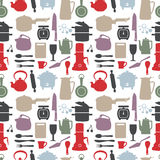 Seamless kitchen pattern Stock Image