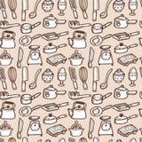 Seamless kitchen pattern. Illustration Royalty Free Stock Photo