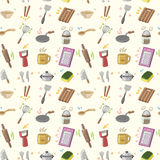 Seamless Kitchen pattern. Vector drawing Stock Images