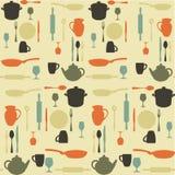 Seamless kitchen pattern. Illustration Royalty Free Stock Photography
