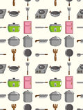 Seamless Kitchen pattern Stock Photo