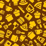 Seamless  Kitchen Pattern Royalty Free Stock Photos