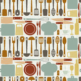 Seamless kitchen vector Royalty Free Stock Image