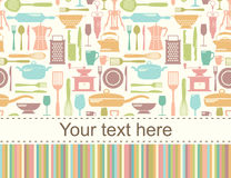 Seamless kitchen vector background Stock Image