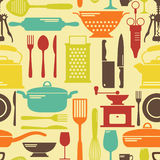 Seamless kitchen vector background Royalty Free Stock Photos
