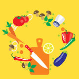 Seamless kitchen vector composition background Royalty Free Stock Photos