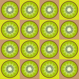 Seamless kiwi pattern Royalty Free Stock Image