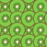 Seamless kiwi pattern. Vector illustration for menu, wallpapers and scrapbooks. Royalty Free Stock Photography