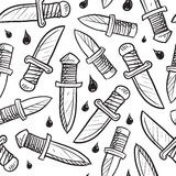 Seamless knife vector background Royalty Free Stock Image