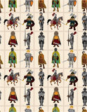 Seamless Knight Pattern Royalty Free Stock Photography