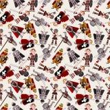 Seamless Knight pattern Royalty Free Stock Photo