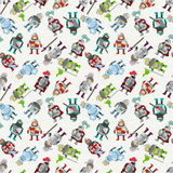 Seamless Knight pattern Stock Photos