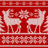 Seamless knit pattern Stock Photography