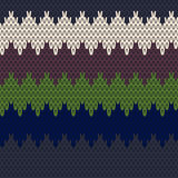Seamless Knit pattern. Colorful Seamless Knit pattern background vector illustration Stock Photo