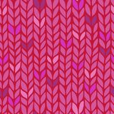 Seamless knit pattern Stock Photo