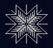 Seamless knit snowflake design Royalty Free Stock Photo