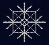 Seamless knit snowflake design Stock Photo