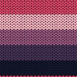 Seamless Knit Texture. Red Pink Violet Knit Texture Royalty Free Stock Photography