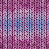 Seamless knitted abstract pattern Stock Images
