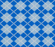 Seamless knitted argyle sweater background Royalty Free Stock Images