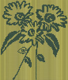 Seamless knitted background - flowers. Vector illustration Stock Photo