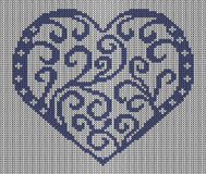 Seamless knitted background - heart. Stock Images