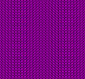 Seamless knitted background in purple Royalty Free Stock Image