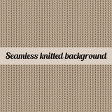 Seamless knitted background. Knitted wool vector background. Abstract seamless pattern Stock Photo