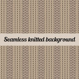 Seamless knitted background. Knitted wool vector background imitating ribbing fabric. Abstract seamless pattern Royalty Free Stock Image