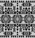 Seamless knitted black and white navajo pattern Stock Image