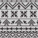 Seamless knitted black and white navajo pattern Royalty Free Stock Image