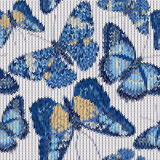 Seamless knitted butterflies pattern Stock Photo