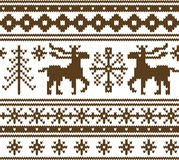 Seamless knitted christmas pattern stock image