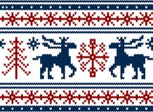 Seamless knitted christmas pattern vector illustration