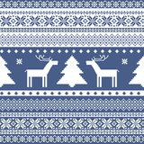 Seamless knitted christmas pattern royalty free illustration
