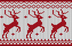 Seamless knitted christmas pattern Royalty Free Stock Photo