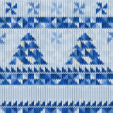 Seamless knitted Christmas pattern Royalty Free Stock Photos
