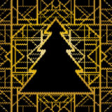 Seamless knitted Christmas pattern, vector illustration. Art dec Stock Photography
